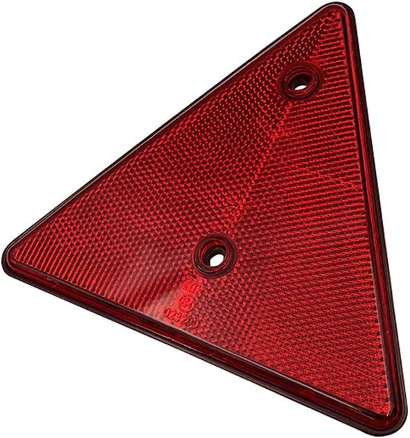Camper RV Van Red, 2 PCS Universal Use Safety Kit Spoke Reflective Quick Mount Custom Accessories 3M Adhesive Reflector for Cars Trailer BAR Stick-on Rectangular Marker Reflectors Trucks
