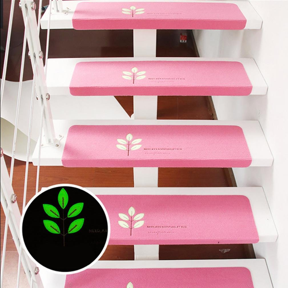 Kaffee Hunpta Schritt Basic Skidproof Gummi Backing Skid-Resistant Teppich Treppen Greifer 5 Stk