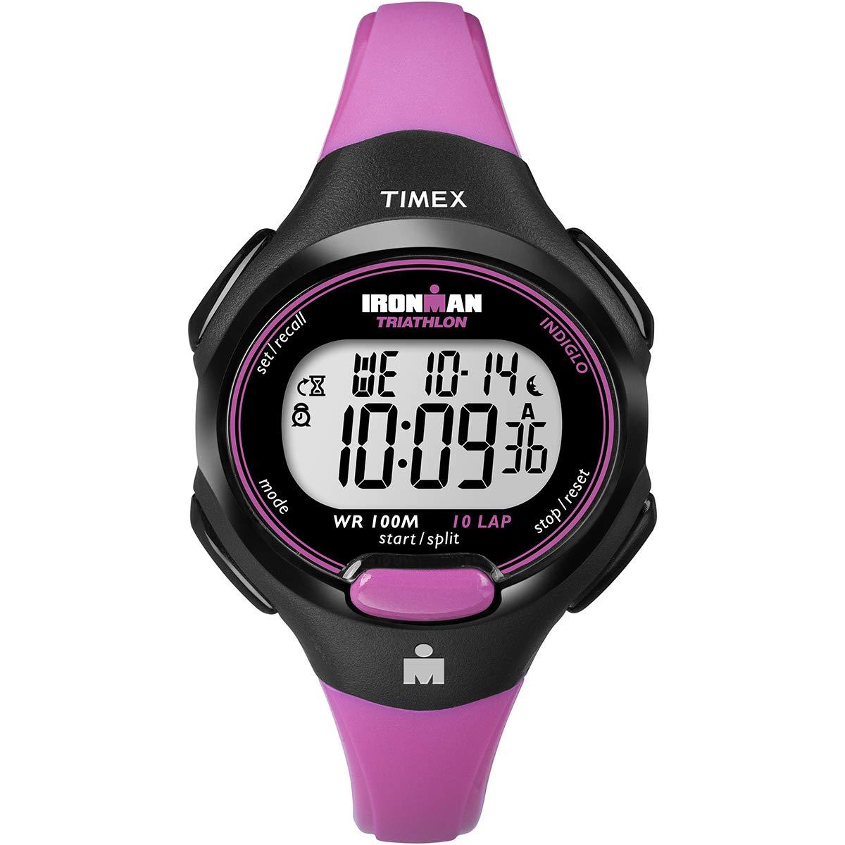 Timex T5K525Wmns Ironman Digi Reloj Rosa con Correa de 10 Vueltas ...