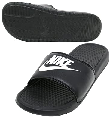 best cheap 24200 e0ac5 Amazon.com   Nike Mens Benassi JDI Slide Sandal (Black Black) (10 D(M) US, Black  White)   Sandals