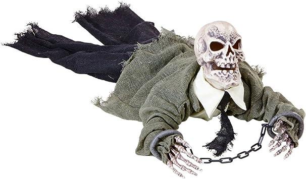 Amakando Gruselige Skelett Halloween Deko Animierte Zombie Leiche Mit Licht Und Sound Grim Reaper Partydeko Dekofigur Sensenmann Halloween Deko Ideen Monster Halloweendeko Garten Amazon De Spielzeug