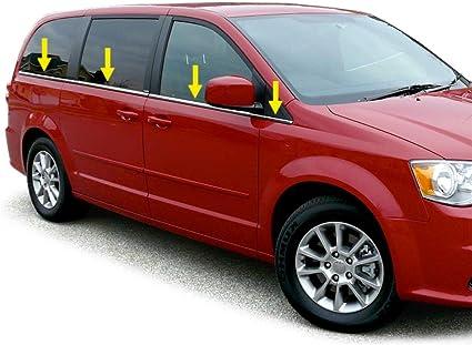 MAXMATE Hecho en EE. UU. Fit 08 – 15 Dodge Grand Caravan Juego de Acero Inoxidable Cromado repisa Ventana Trim: Amazon.es: Coche y moto