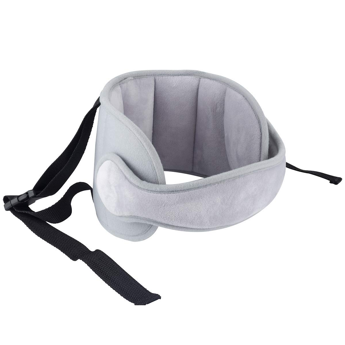 Luchild Head Support Travel Car Seat Stroller Child Head Protection Neck Relief for Toddler Baby Kids (Grey)