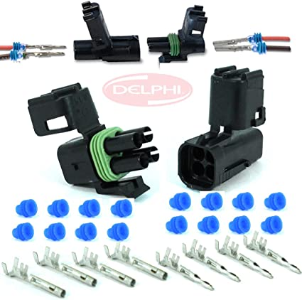 Weather Pack 4 Pin Square Sealed Wiring Connector Kit
