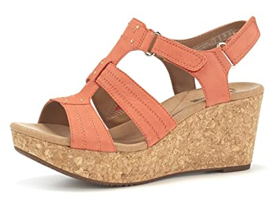 6891bad2aaa Image Unavailable. Image not available for. Colour  Clarks Annadel Orchid  Cushion Soft Wedge Sandal ...