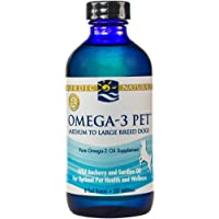 Nordic Naturals Omega-3 Pet Oil Supplement, Promotes Optimal Pet Health and Wellness, for Medium to Large Breed Dogs ,  8 oz