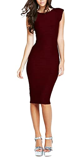 REPHYLLIS Women's Casual Boat neck Slim Bodycon Business Party Work Pencil Dress