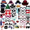 PBPBOX Photo Booth Props 59 Piece DIY Kit Deals
