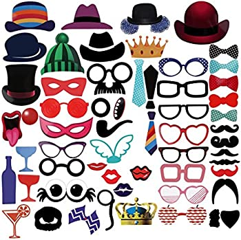 59-Piece Photo Booth Props