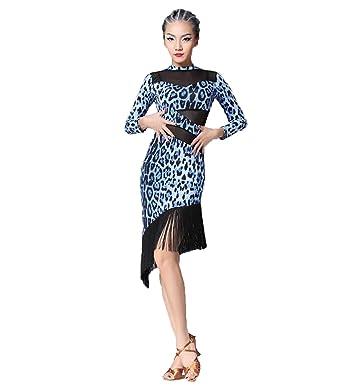 bc40d0ef5 YC WELL Women Latin Dance Dress Tassel Tango Salsa Rumba Cha Cha Samba Dance  at Amazon Women's Clothing store: