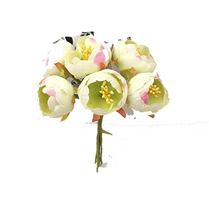 Amazon Com 6pcs Mini Man Made Silk Stamens Small Tea Bag Bouquet