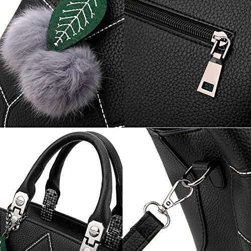 PU-Leder, elegante Handtaschen-Schulter-Beutel-Art- und Weisebeutel-Geldbeutel-Tote-Beutel-Handbeutel F