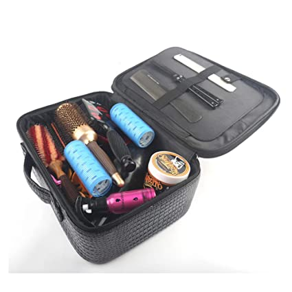 Peluquería Organizador bolsa pelo estilista kit de herramientas multifunción belleza caja de almacenamiento estuche de transporte,Black1: Amazon.es: Salud y ...