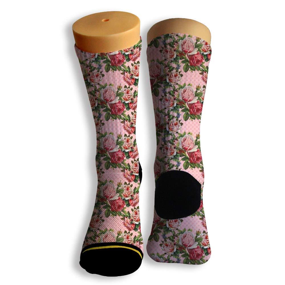 Basketball Soccer Baseball Socks by Potooy A bunch of Rose 3D Print Cushion Athletic Crew Socks for Men Women