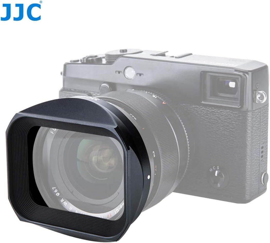 Replaces Fujifilm LH-XF35-2 LH XF35 2 Hood Shade 23mm F2 Lense Hood JJC Dedicated Black Metal Square Bayonet Lens Hood for Fujinon XF35mmF2 R WR XF23mmF2 R WR Slide In Front Cap Fuji 35mm F2 Hood