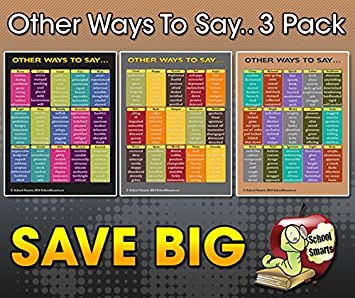 Amazon.com: Inglés palabras sinónimos Cartel 3 Pack. 360 ...