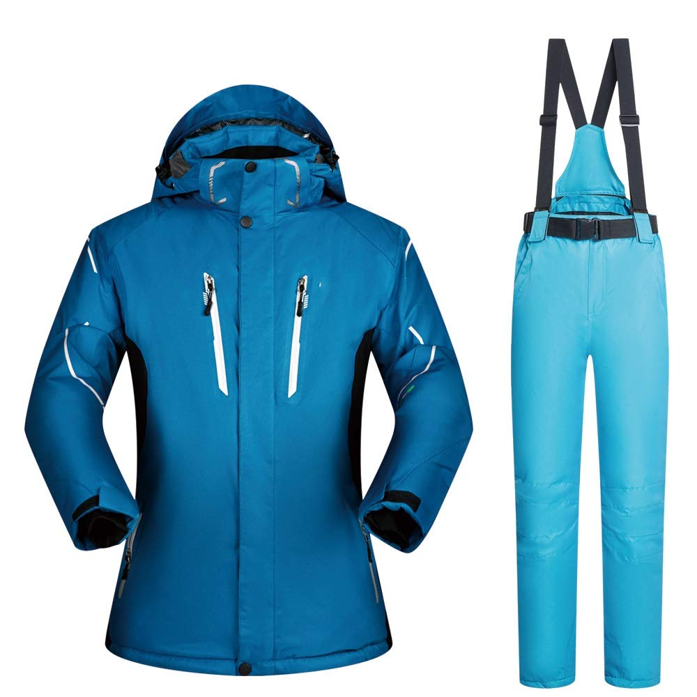 AUMING Skianzug Skijacke Männer Mantel Ski Jacke Hosenanzug Wasserdicht Winddicht Warm Zipper (Farbe : C9, Größe : XXXL)