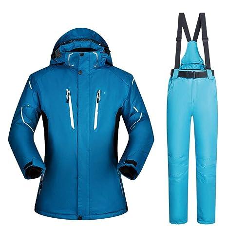 ChenYongPing Chaqueta de esquí Hombres Abrigo Chaqueta de ...