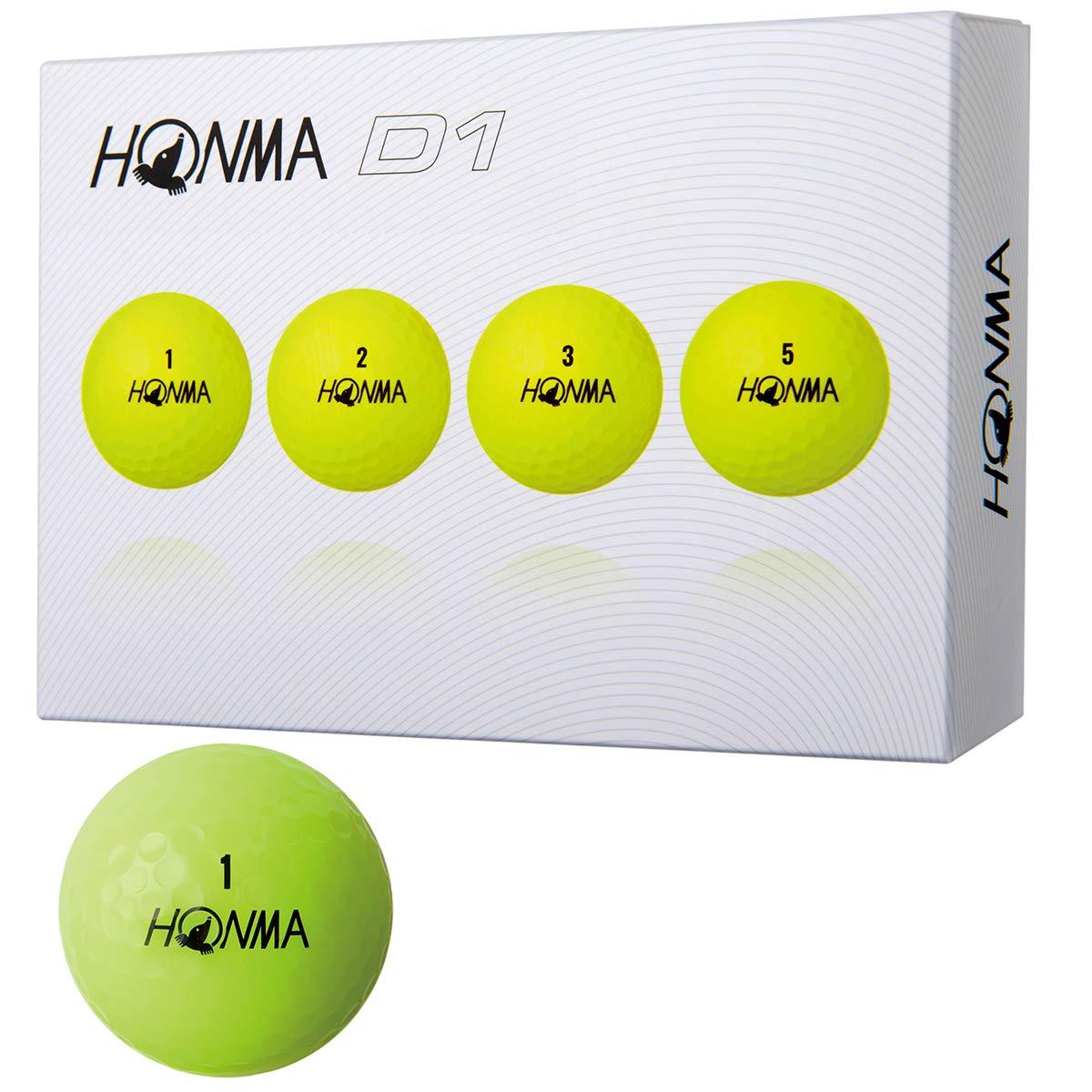Honma Golf Golf Ball New D1 Yellow 5 Dozens Japan Import