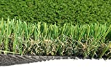 PZG Commerical Artificial Grass Patch w/ Drainage Holes & Rubber Backing | Heavy & Durable Turf | Lead-Free Fake Grass for Dogs or Outdoor Decor | Total Wt. - 103 oz & Face Wt. 75 oz | 82' x 7.5'