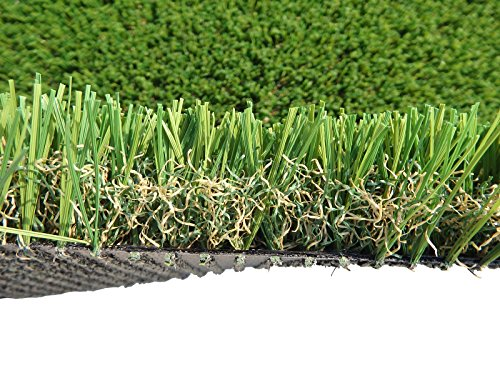 PZG Commerical Artificial Grass Patch w/ Drainage Holes & Rubber Backing | Extra-Heavy & Durable Turf | Lead-Free Fake Grass for Dogs or Outdoor Decor | Total Wt. - 103 oz & Face Wt. 75 oz | 12' x 10'
