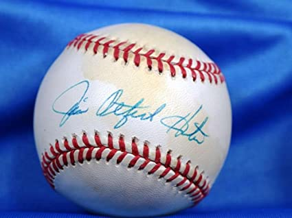 78201eb811a Image Unavailable. Image not available for. Color  Jim Catfish Hunter  Autographed Baseball - CERT AMERICAN LEAGUE - JSA Certified - Autographed  Baseballs