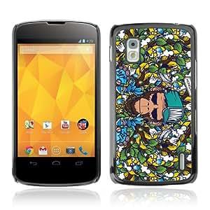 YOYOSHOP [Badass Graphiti Monkey Pattern] LG Google Nexus 4 Case