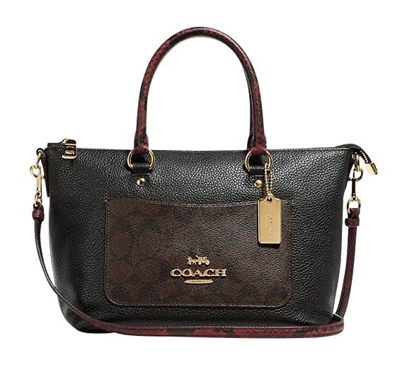 bca1986f COACH Snake Signature Leather Mini Emma Satchel Crossbody Bag Purse ...