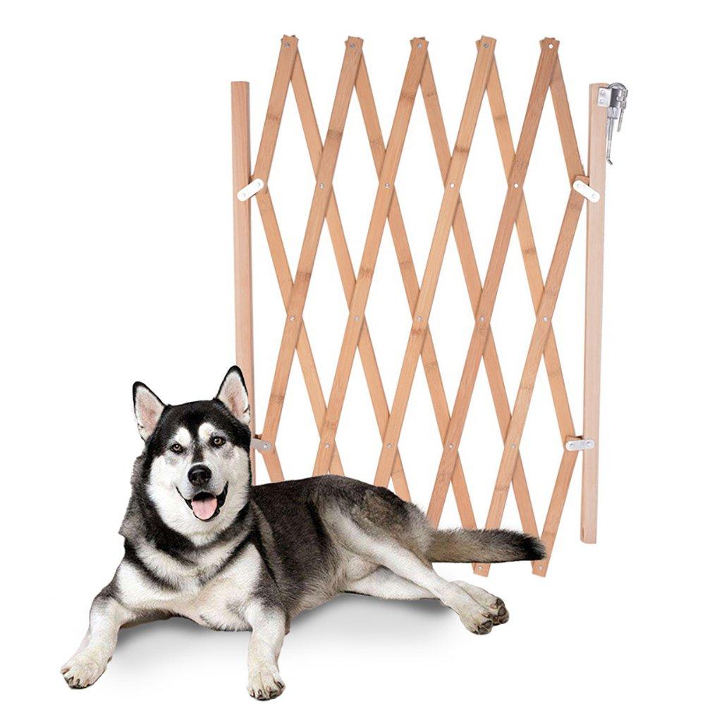Roblue Dog Fence Indoor Wooden Screen Dog Gate Pet Safety Protection Room Divider
