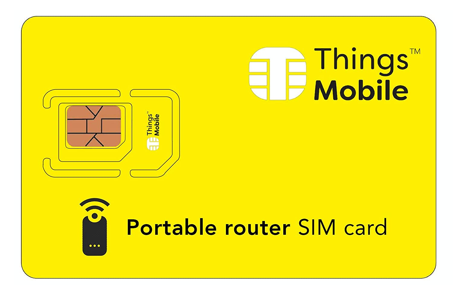 Tarjeta SIM para PORTABLE ROUTER- Things Mobile: Amazon.es ...