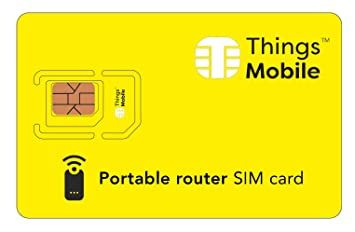 Tarjeta SIM para PORTABLE ROUTER- Things Mobile: Amazon.es ...