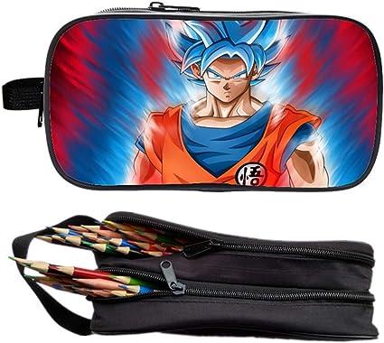 Trousse Dragon Ball Z Trousse Scolaire Dragon Ball Super Anime 2 Compartiments Trousse /école Garcon Trousse /à Crayons Pochette /à Crayons /Étui /à Crayons Trousse Papeterie Stylo Organiseur 1