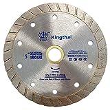 """Kingthai 5"""" Turbo Rim Diamond Blade for Concrete Masonry Stone with 7/8""""-5/8"""" Arbor"""