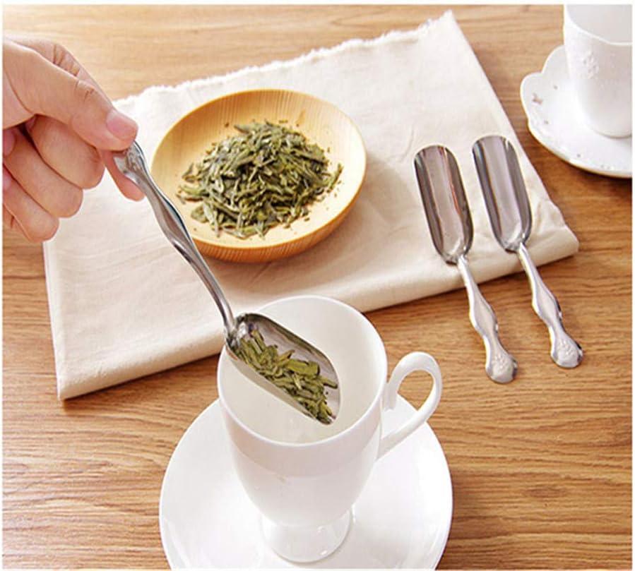 Ellepigy Mini Stainless Steel Teaspoon Tea Shovel Essential Tea Spoon Coffee Powder Shovel