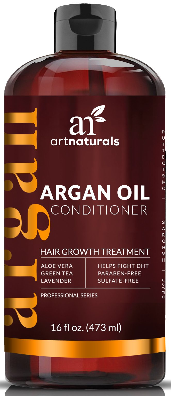 ArtNaturals Argan-Oil Conditioner for Hair-Regrowth - 16 Oz - Sulfate Free - Treatment for Hair Loss and Thinning - Growth Product For Men & Women - Infused with Biotin