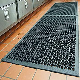 Outdoor Rubber Mats Anti-Fatigue Floor Mat for Kitchen New Bar Floor Mats  Commercial Heavy Duty Floor Mat Black 36\