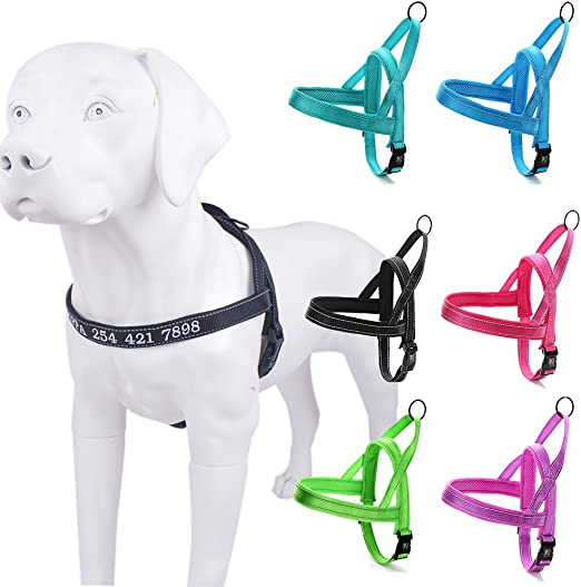 Reflective personalizar arnés para perro con nombre bordado de ...