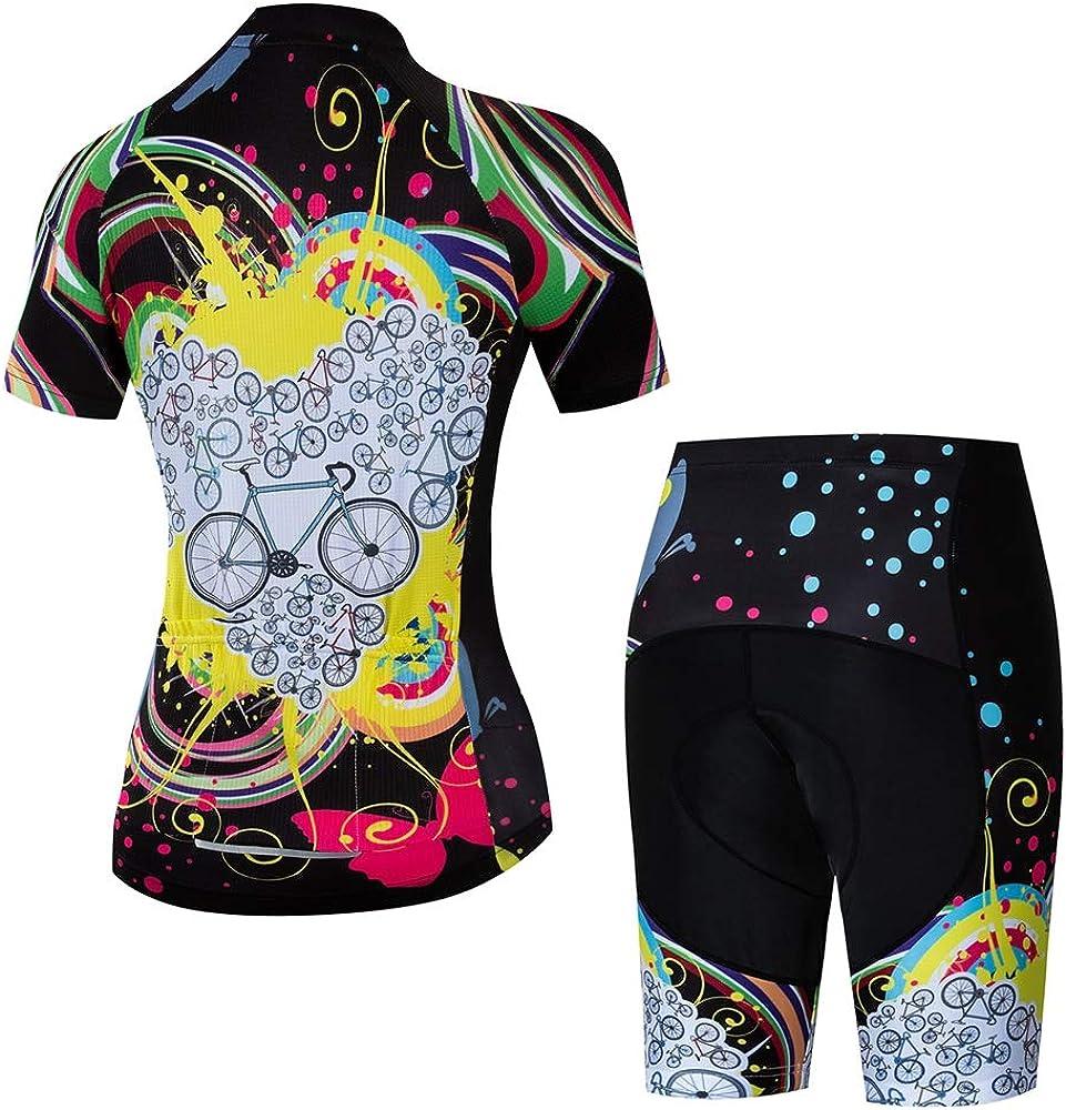 Womens Cycling Jerseys Set Short Sleeve