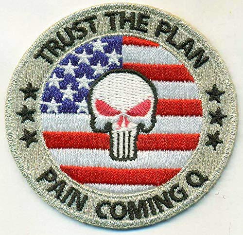 Qanon Iron On 100 Embroidered Embroidery Patch Patches Trust The Plan Plan Coming Q Trump The Punisher Wwg1wga Q Anon Follow The White Rabbit Mixed Media