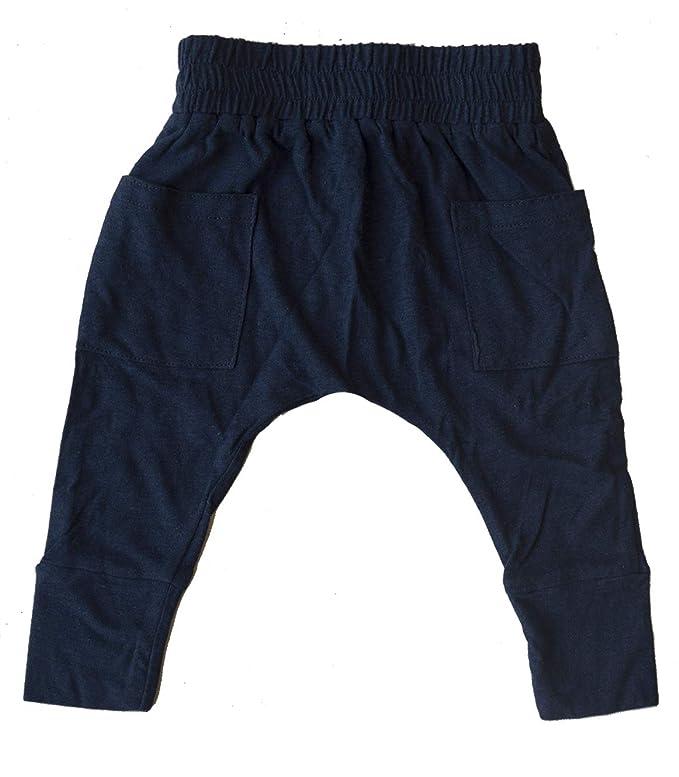 c8b41d3008 Amazon.com: Hey Hendrix Apparel Bamboo Harem Pants (Dark Navy) from  Organically Grown Bamboo: Clothing