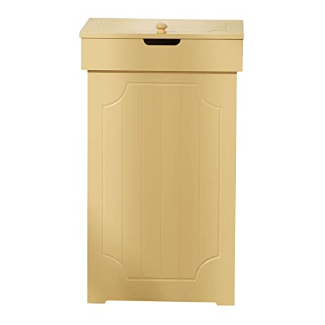 homelike wood trash bin with lid kitchen trash can garbage can 13 gallon recycle