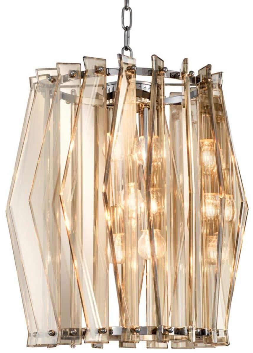Casa Padrino Luxus Kronleuchter mit Gold getöntem getöntem getöntem Glas Ø 44 x H. 50 cm - Wohnzimmermöbel B07GRS6ZCC | Online  87269f