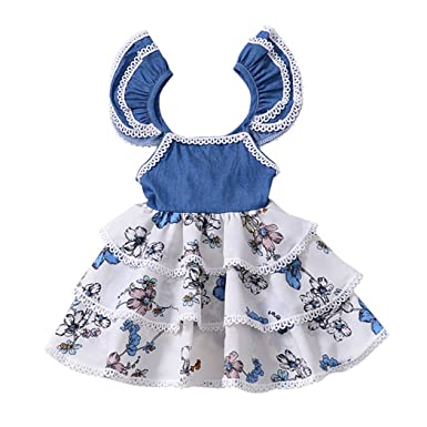 a71080d27e5d5 Amazon.com: Colorful Childhood Baby Girls Dress Toddler Kids Floral ...