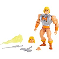 Masters of The Universe Origins Deluxe He-Man 5.5-in Action Figure, Battle Character for Storytelling Play and Display…