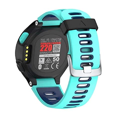 3d2b1ad68e7dc5 Noopvan Soft Silicone Replacement Accessories Bracelet Watch Band Strap for Garmin  Forerunner 235