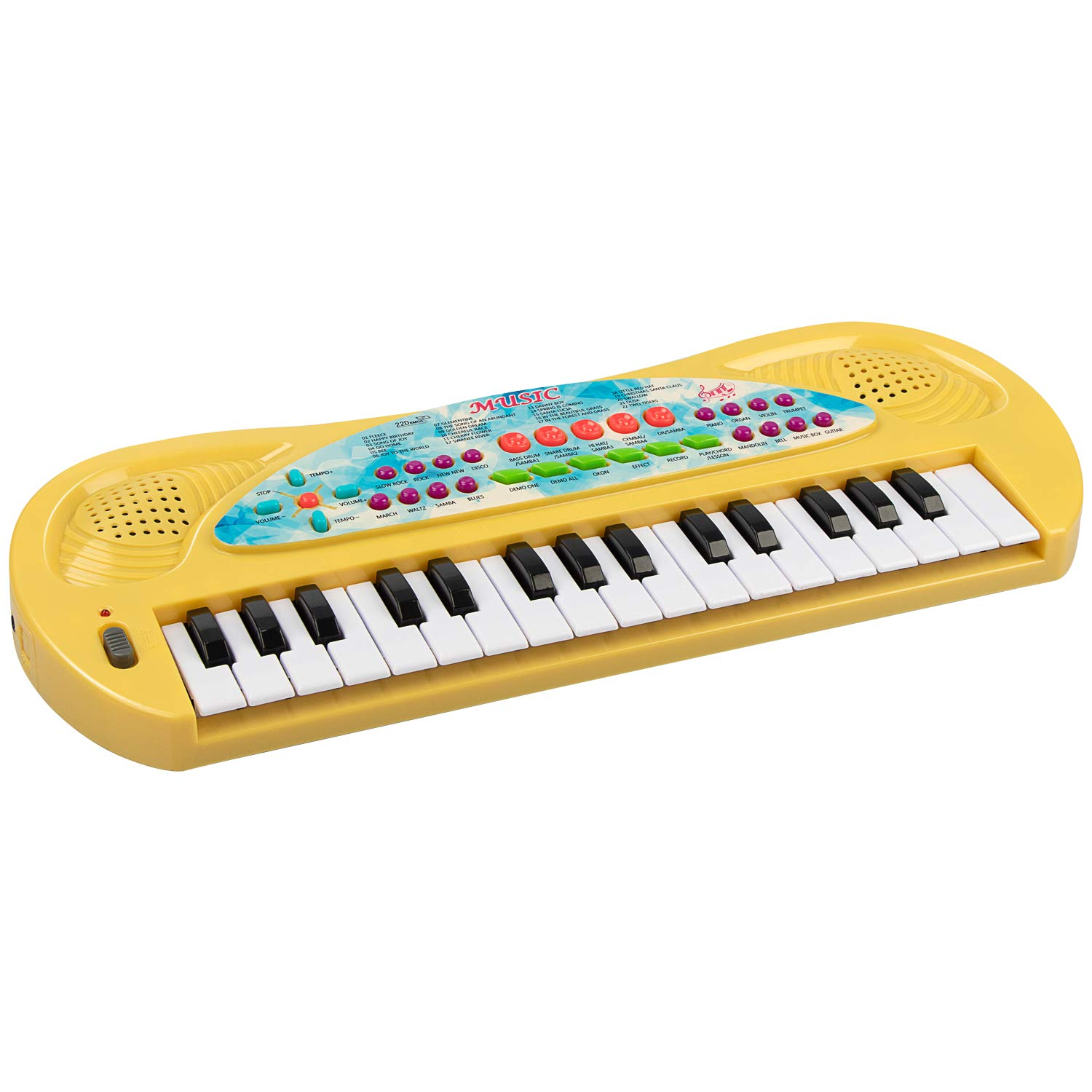 aPerfectLife Piano for Kids, 32 Keys Multifunction Portable Electronic Kids Keyboard Piano Musical Children Boys Girls Early Learning Educational Toy (Yellow)