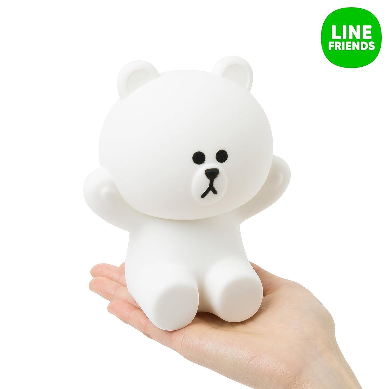 Line LEDタッチランプ Friendsブラウンhug-me ホワイト One Size