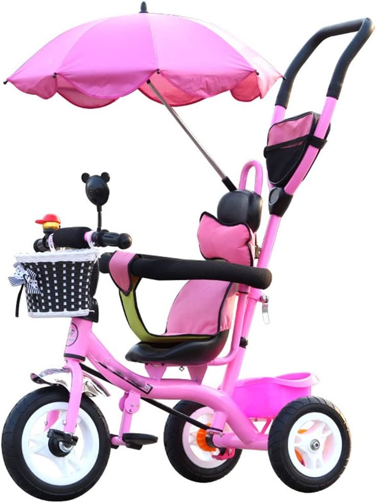 BZEI-BIKE Carritos para Niños Triciclo Carruajes para Bebés Bicicletas para Niños 3 Ruedas, PinkBike (Niño/Niña, 1-3-5 Años) Niños Juguetes