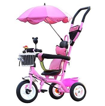 BZEI-BIKE Carritos para niños Triciclo Carruajes para bebés Bicicletas para niños 3 Ruedas,