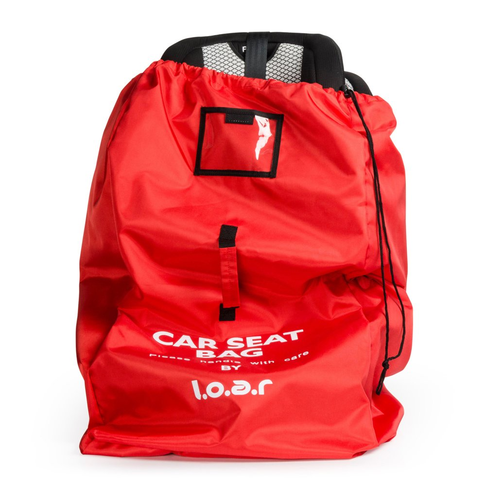 Car Seat Travel Bag - Ideal for Airplane Gate Check | Durable and Lightweight with Double Padded Shoulder Straps | Red Loar Creations